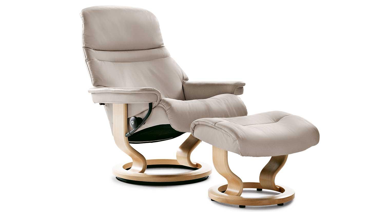 Circle furniture stressless sunrise chair ekornes for Stressless chair