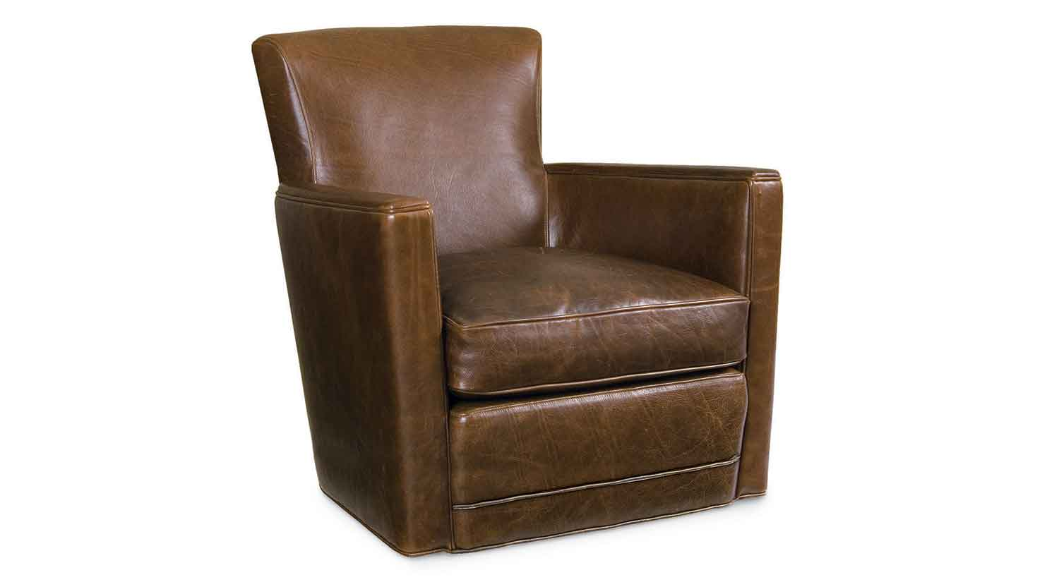 Circle furniture trent leather swivel chair leather for Furniture chairs