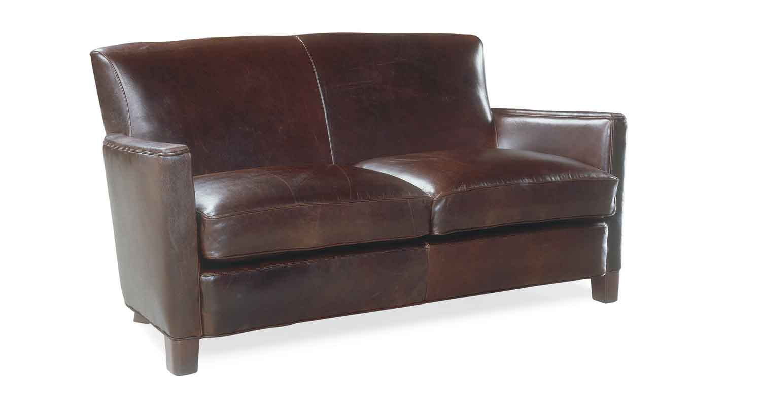 Circle Furniture Trent Leather Loveseat Loveseats Boston Circle Furniture